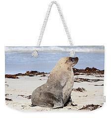 My Good Side Weekender Tote Bag by Mike Dawson