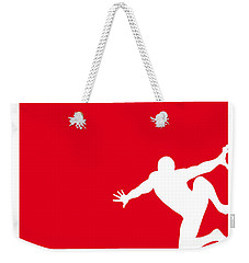 My Superhero 04 Spider Red Minimal Poster Weekender Tote Bag by Chungkong Art