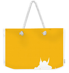 My Superhero 05 Wolf Yellow Minimal Poster Weekender Tote Bag by Chungkong Art