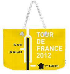 My Tour De France 2012 Minimal Poster Weekender Tote Bag by Chungkong Art