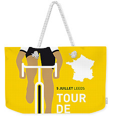My Tour De France Minimal Poster 2014 Weekender Tote Bag by Chungkong Art