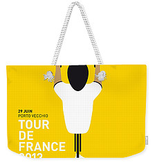 My Tour De France Minimal Poster Weekender Tote Bag by Chungkong Art