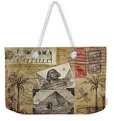 My Trip To Egypt 1914 Weekender Tote Bag by Carol Leigh
