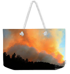Weekender Tote Bag featuring the photograph Myrtle Fire Near Rifle Pit Road by Bill Gabbert