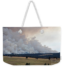 Weekender Tote Bag featuring the photograph Myrtle Fire West Of Wind Cave National Park by Bill Gabbert