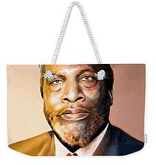 Mzee Jomo Kenyatta Weekender Tote Bag by Anthony Mwangi