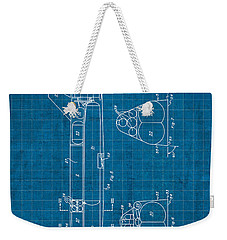 Nasa Space Shuttle Vintage Patent Diagram Blueprint Weekender Tote Bag by Design Turnpike