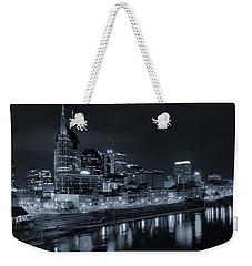 Nashville Skyline At Night Weekender Tote Bag by Dan Sproul