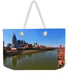 Nashville Skyline  Weekender Tote Bag by Dan Sproul