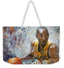 Nba Lakers Kobe Black Mamba Weekender Tote Bag by Ylli Haruni