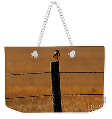 Nebraska's Bird Weekender Tote Bag by Elizabeth Winter