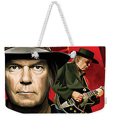 Neil Young Artwork Weekender Tote Bag by Sheraz A