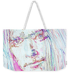 Neil Young - Colored Pens Portrait Weekender Tote Bag by Fabrizio Cassetta