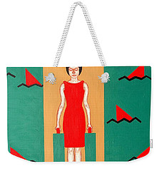 Shark Infested Water Weekender Tote Bag by Patrick J Murphy