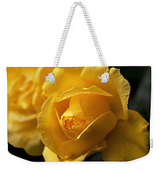New Yellow Rose Weekender Tote Bag by Rona Black
