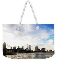 New York City Bridges Weekender Tote Bag by Nicklas Gustafsson