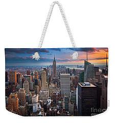New York New York Weekender Tote Bag by Inge Johnsson