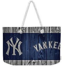 New York Yankees Barn Door Weekender Tote Bag by Dan Sproul