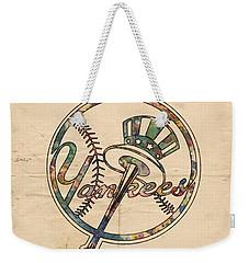 New York Yankees Poster Vintage Weekender Tote Bag by Florian Rodarte