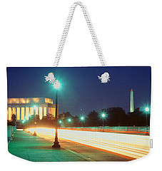 Night, Lincoln Memorial, District Of Weekender Tote Bag by Panoramic Images