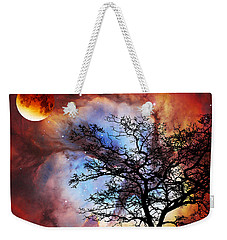 Night Sky Landscape Art By Sharon Cummings Weekender Tote Bag by Sharon Cummings