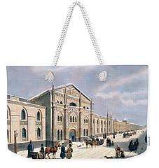 Nikolyskaya Street In Moscow Weekender Tote Bag by Russian School