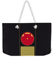 No003 My 2001 A Space Odyssey 2000 Minimal Movie Poster Weekender Tote Bag by Chungkong Art