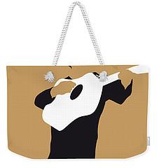 No010 My Johnny Cash Minimal Music Poster Weekender Tote Bag by Chungkong Art