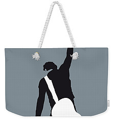 No017 My Bruce Springsteen Minimal Music Poster Weekender Tote Bag by Chungkong Art