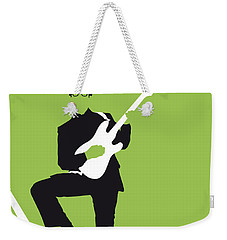No056 My Buddy Holly Minimal Music Poster Weekender Tote Bag by Chungkong Art