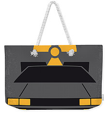 No183 My Back To The Future Minimal Movie Poster Weekender Tote Bag by Chungkong Art