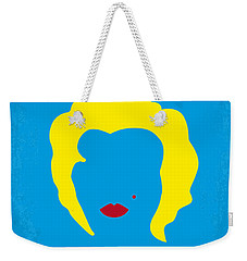 No284 My Week With Marilyn Minimal Movie Poster Weekender Tote Bag by Chungkong Art