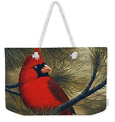 Northern Cardinal Weekender Tote Bag by Rick Bainbridge