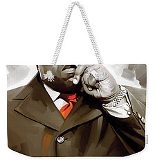 Notorious Big - Biggie Smalls Artwork 3 Weekender Tote Bag by Sheraz A