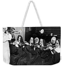 Nuns Rehearse For Concert Weekender Tote Bag by Underwood Archives