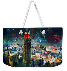 Nyc In Fourth Of July Independence Day Weekender Tote Bag by Ylli Haruni