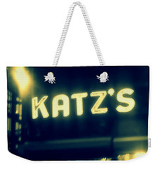 Nyc's Famous Katz's Deli Weekender Tote Bag by Paulo Guimaraes