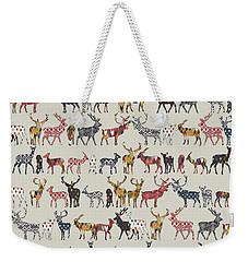 Oatmeal Spice Deer Weekender Tote Bag by Sharon Turner
