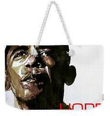 Obama Hope Weekender Tote Bag by Paul Lovering