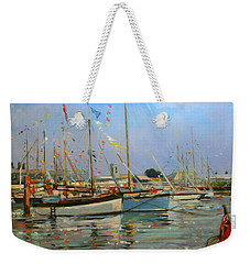 Old Gaffers  Yarmouth  Isle Of Wight Weekender Tote Bag by Jennifer Wright