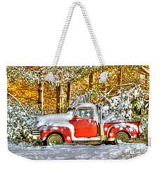 Old Red Weekender Tote Bag by Benanne Stiens