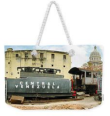 Old Trains Being Restored, Havana, Cuba Weekender Tote Bag by Panoramic Images