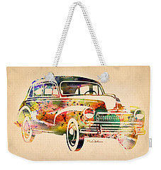 Old Volkswagen Weekender Tote Bag by Mark Ashkenazi