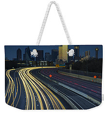 Oncoming Traffic Weekender Tote Bag by Rick Berk