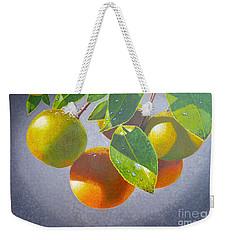 Oranges Weekender Tote Bag by Carey Chen