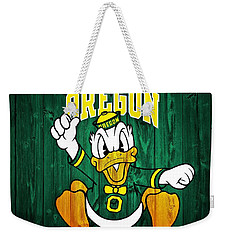 Oregon Ducks Barn Door Weekender Tote Bag by Dan Sproul