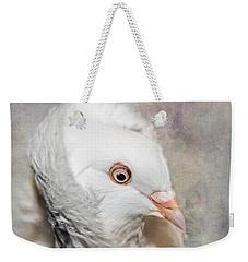 Oriental Frill Pigeon Weekender Tote Bag by Betty LaRue
