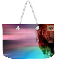 Original Jessica Alba Painting Weekender Tote Bag by Marvin Blaine