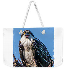 Osprey Surprise Party Card Weekender Tote Bag by Edward Fielding