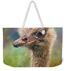 Ostrich Weekender Tote Bag by David Stribbling